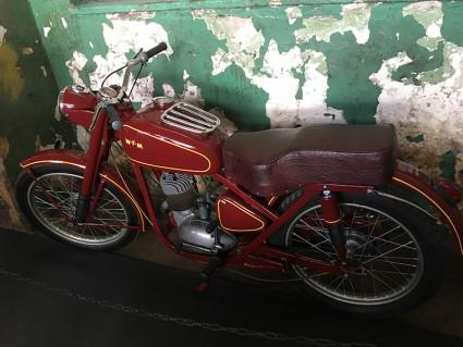 Moto-historie w hangarze Czyżyny - motocykl WFM
