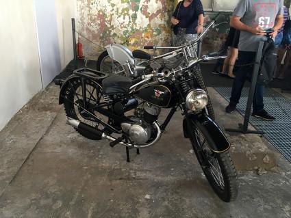 Moto-historie w hangarze Czyżyny - motocykl Sokół 125