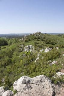 Miedzianka - widok na pierwszy szczyt